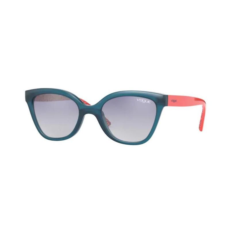 Óculos de Sol Feminino Infantil Vogue VJ2001 Azul Brilho e Laranja