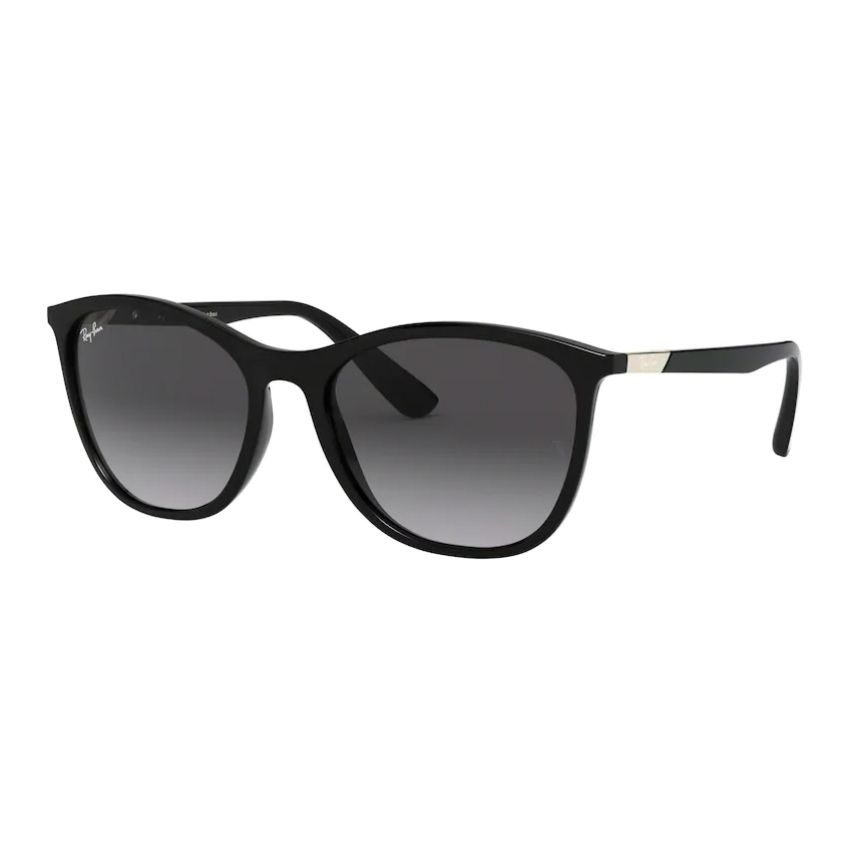 Óculos de Sol Feminino Ray Ban RB4317L Preto Brilho Tamanho 56
