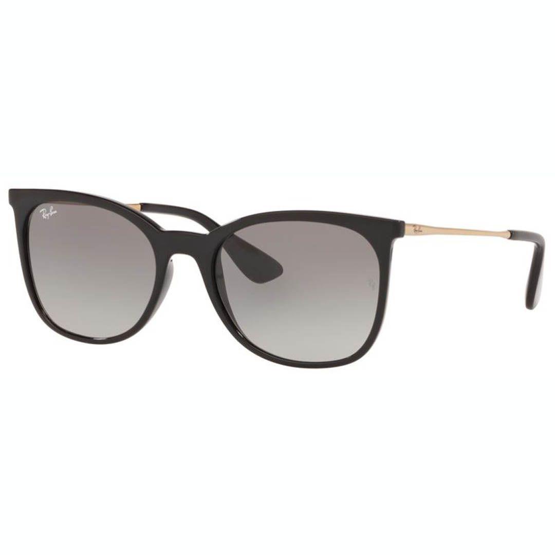 Óculos de Sol Feminino Ray Ban RB4326L Preto Brilho com Dourado