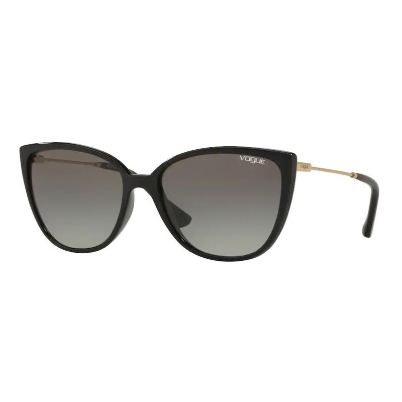 Óculos de Sol Feminino Vogue Gatinho VO5250SL Preto Brilho