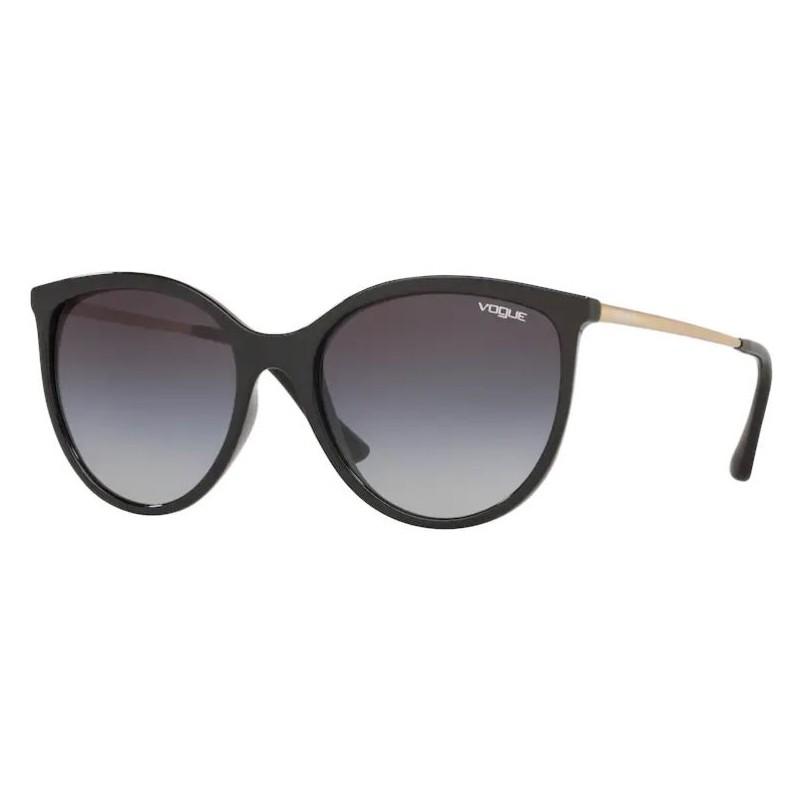 Óculos de Sol Feminino Vogue Redondo VO5221SL Preto Brilho
