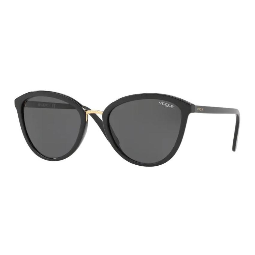 Óculos de Sol Feminino Vogue VO5270S Preto Brilho Tamanho 57
