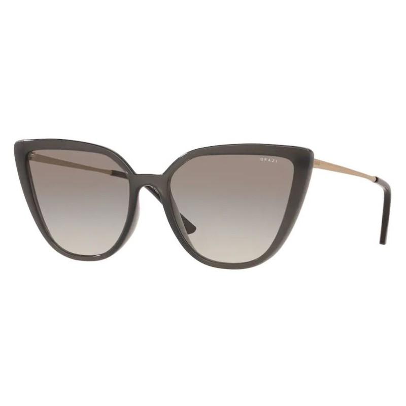 Óculos de Sol Grazi Gatinho GZ4041 Cinza Brilho Tamanho 57