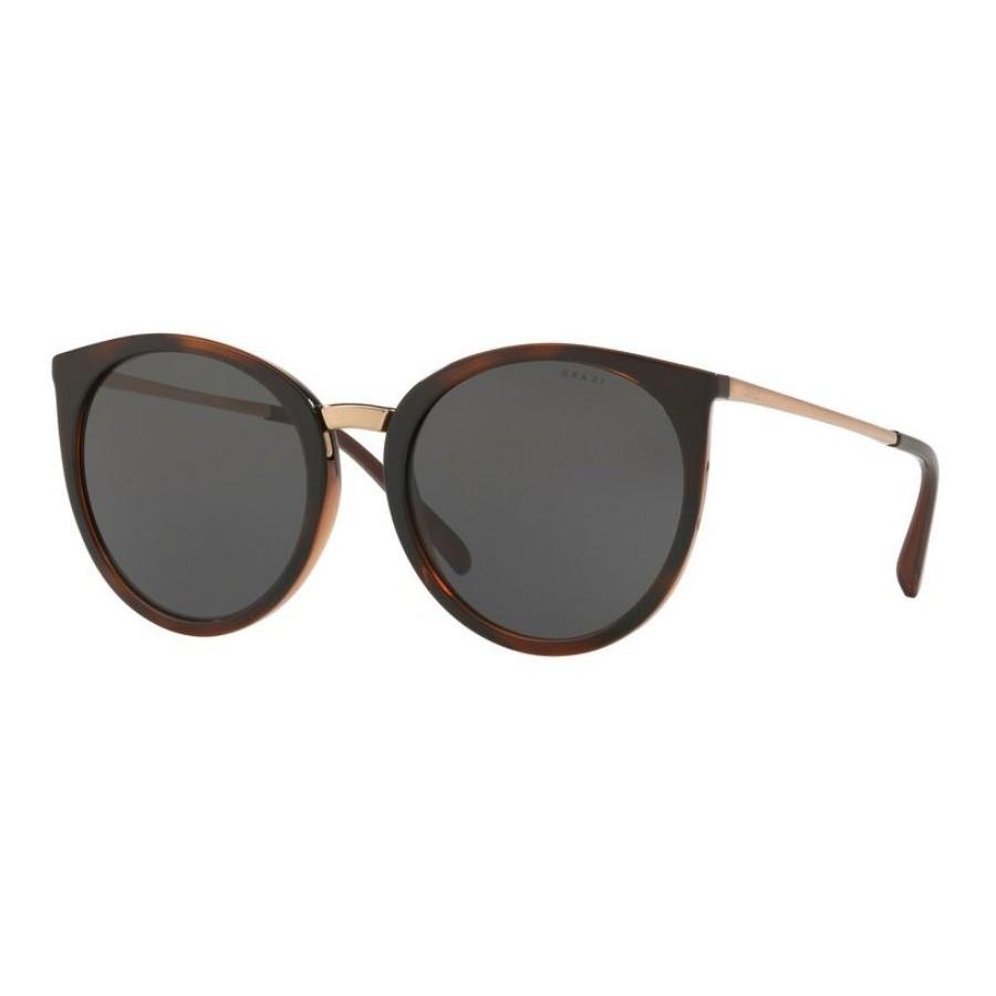 Óculos de Sol Grazi GZ4030 Marrom Brilho Redondo