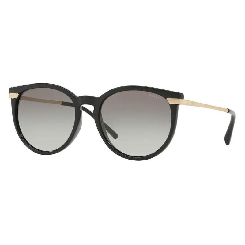 Óculos de Sol Grazi GZ4031 Redondo Preto Brilho com Dourado