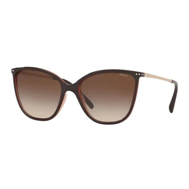 Óculos de Sol Grazi GZ4033B Marrom Escuro Brilho Feminino