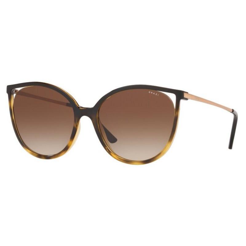 Óculos de Sol Grazi GZ4036 Marrom com Havana Brilho Grande