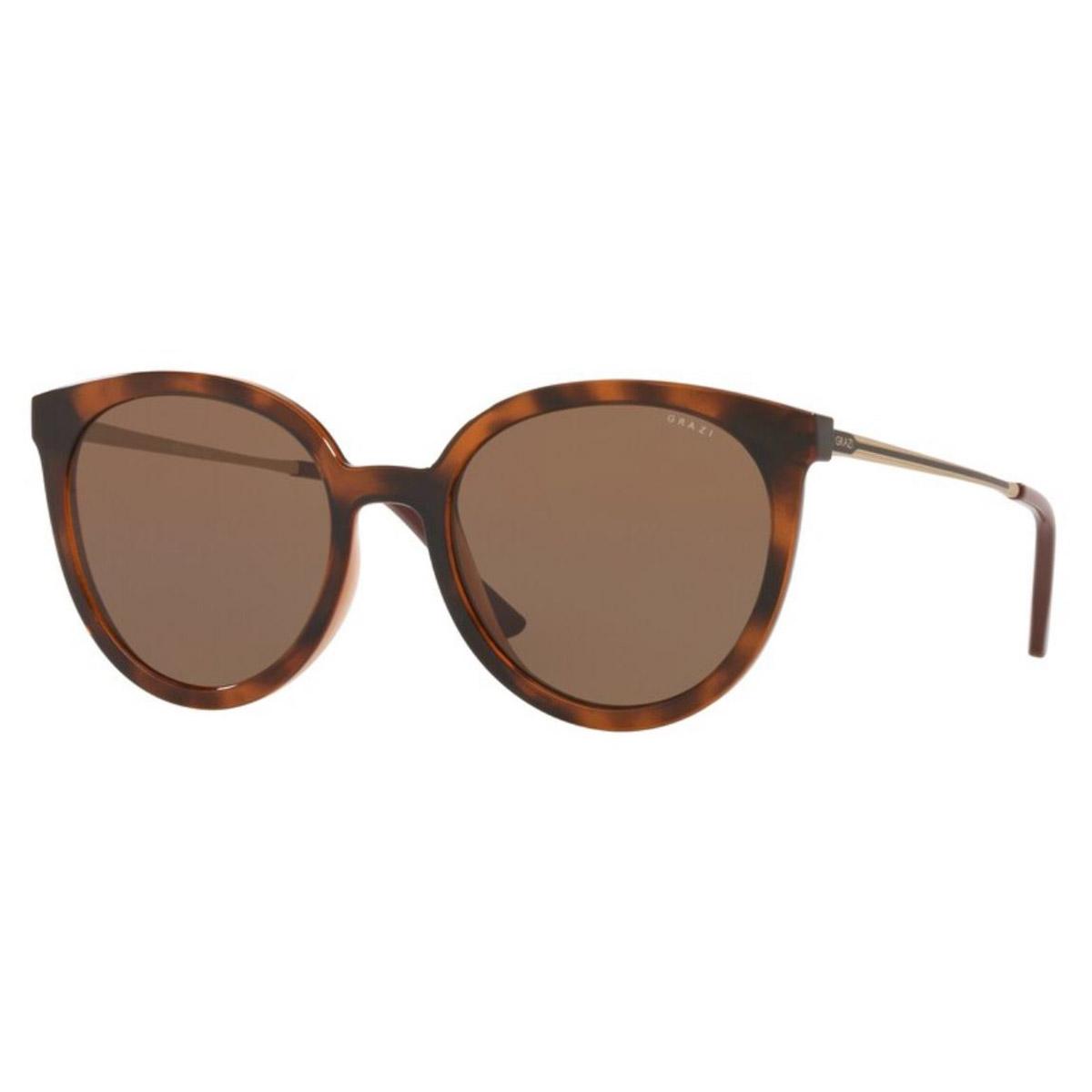Óculos de Sol Grazi GZ4042 Preto com Marrom Havana Redondo