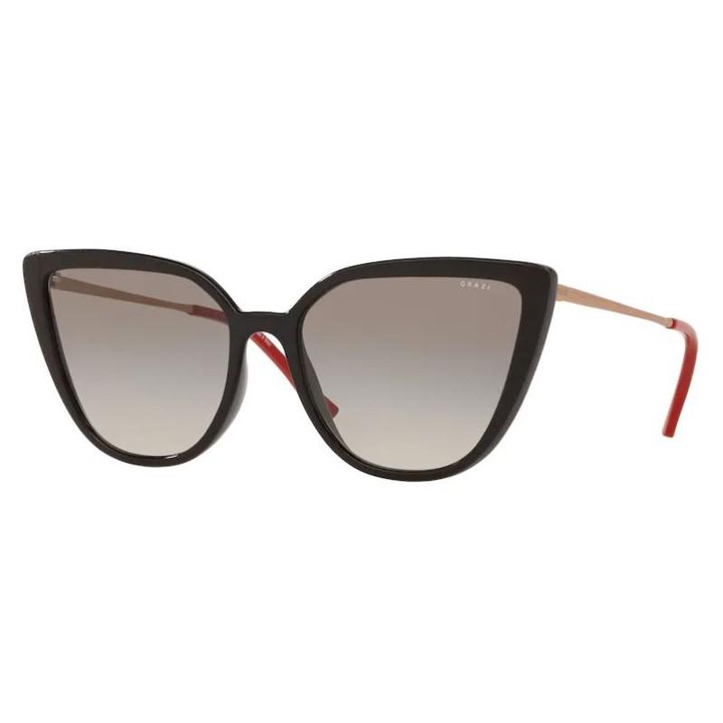 Óculos de Sol Grazi Massafera Gatinho GZ4041 Preto Brilho
