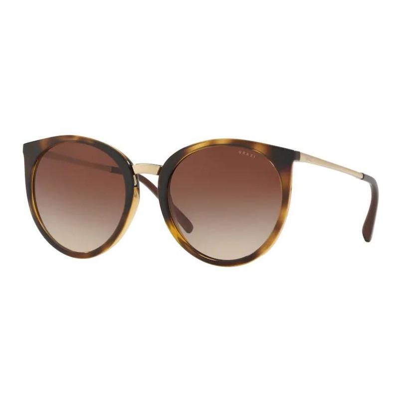 Óculos de Sol Grazi Massafera GZ4030 Redondo Havana Brilho