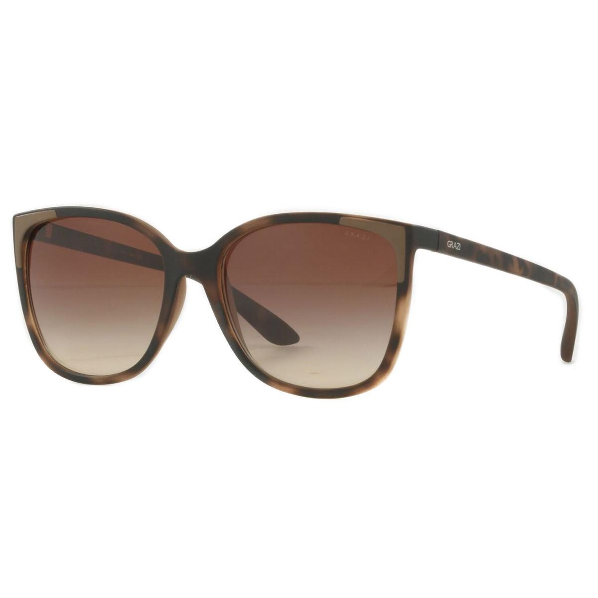 Óculos de Sol Grazi Massafera GZ4032 Marrom Havana Fosco