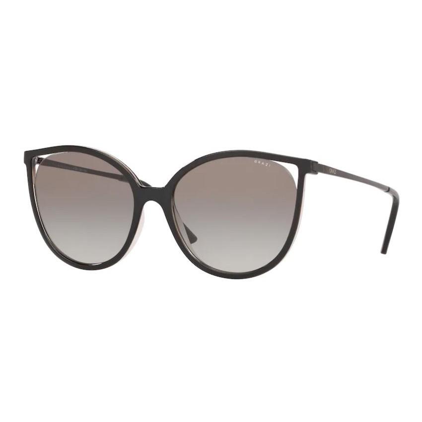 Óculos de Sol Grazi Massafera GZ4036 Preto Brilho Grande