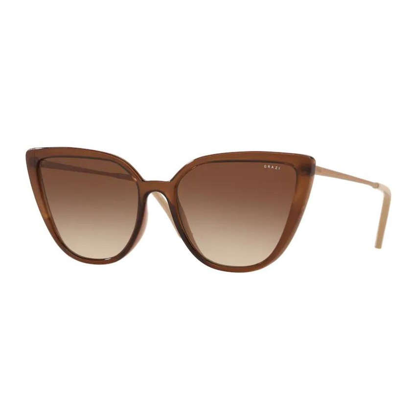 Óculos de Sol Grazi Massafera GZ4041 Marrom Brilho Translúcido
