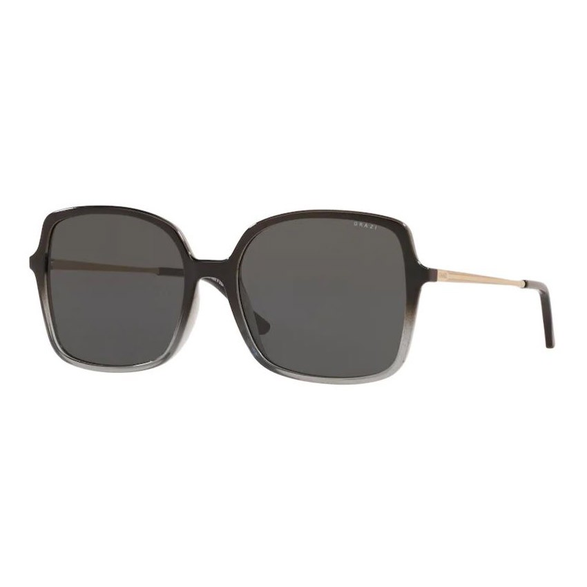 Óculos de Sol Grazi Quadrado GZ4040 Preto Brilho com Cinza