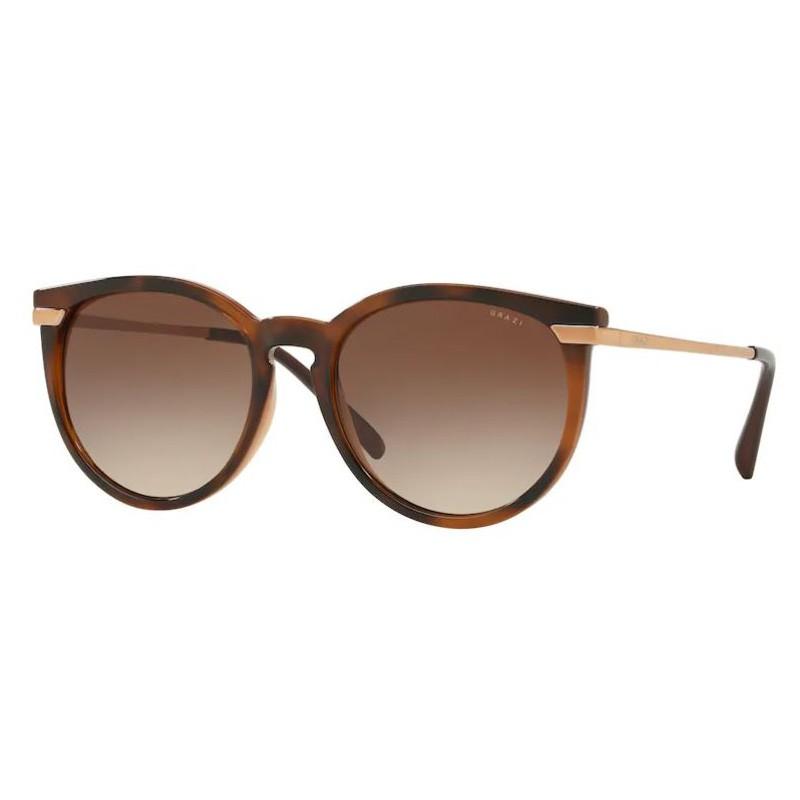 Óculos de Sol Grazi Redondo GZ4031 Marrom Havana Brilho