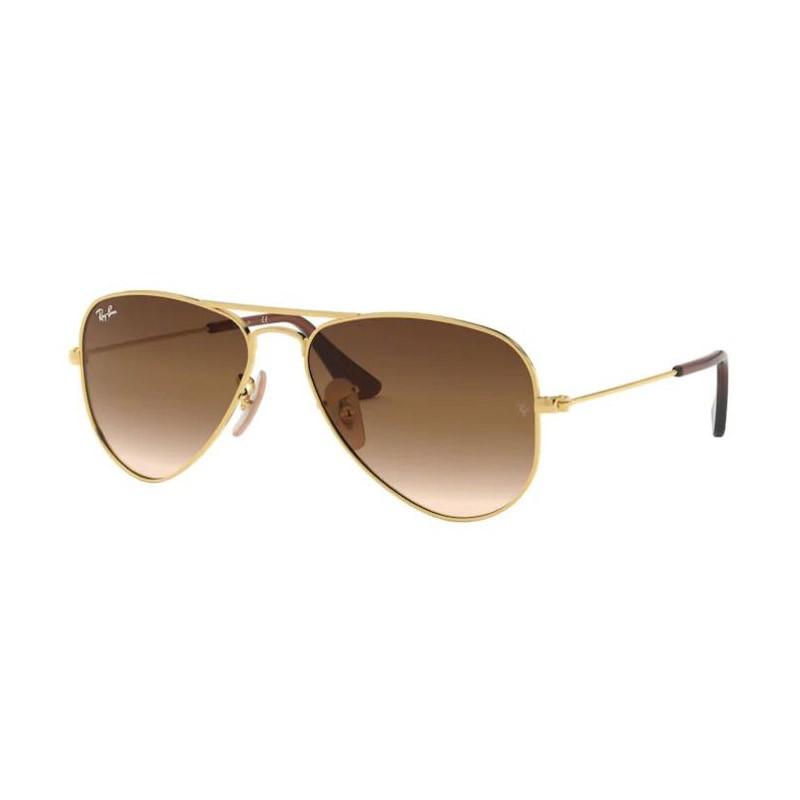 Óculos de Sol Infantil Ray Ban Aviador RJ9506S Dourado Brilho