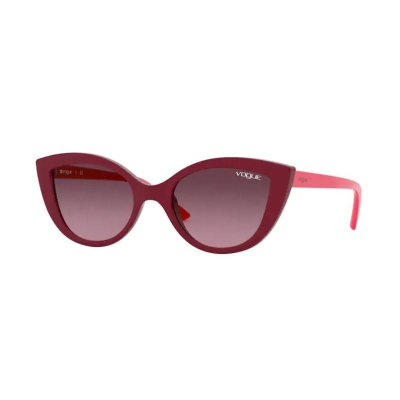 Óculos de Sol Infantil Vogue Gatinho VJ2003 Bordô Brilho