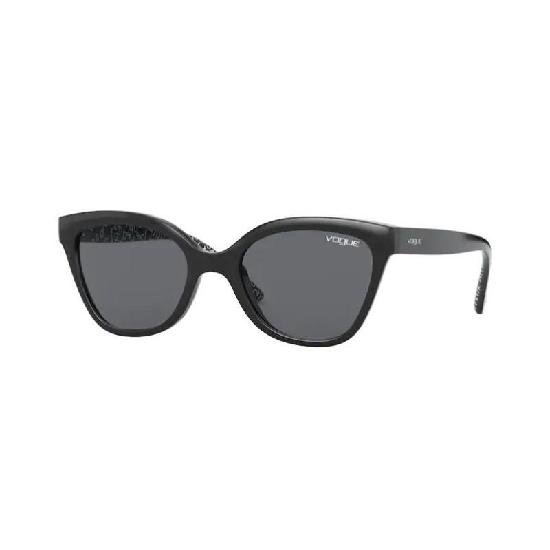 Óculos de Sol Infantil Vogue VJ2001 Preto Brilho Gatinho