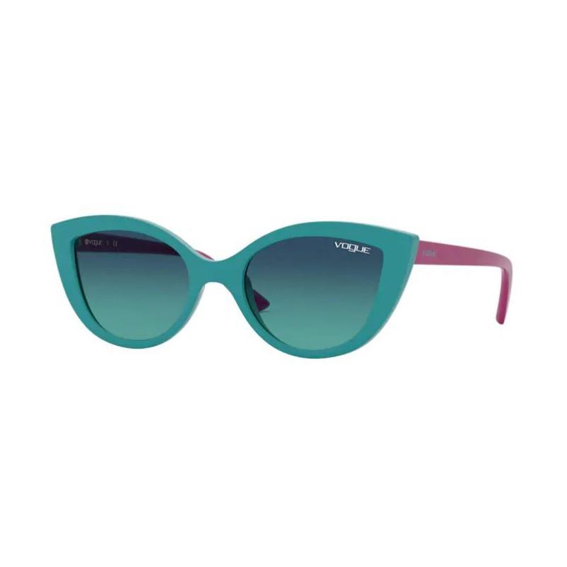 Óculos de Sol Infantil Vogue VJ2003 Verde e Roxo Gatinho