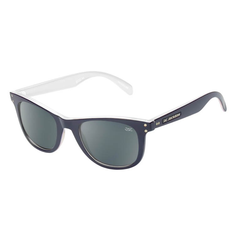Óculos de Sol Jackdaw 38 Azul Marinho e Branco Brilho