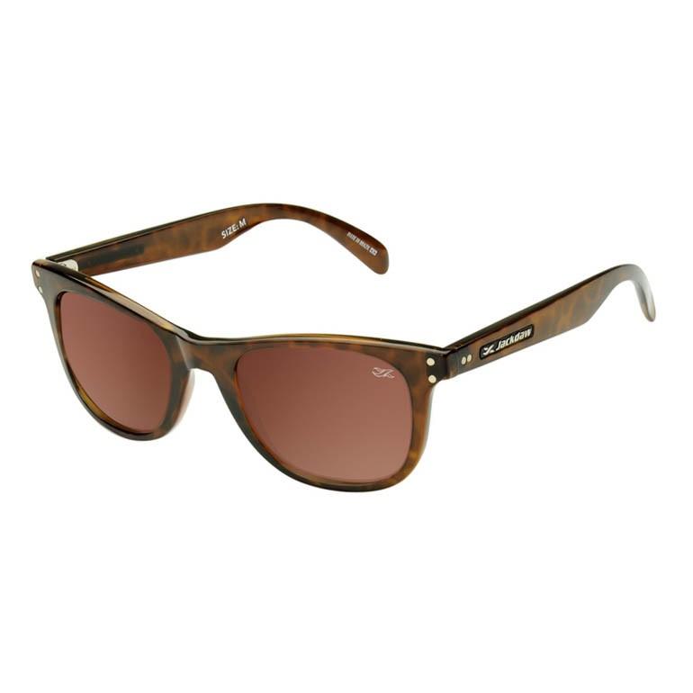 Óculos de Sol Jackdaw 39 Marrom Demi Brilho com Lentes Polarizadas