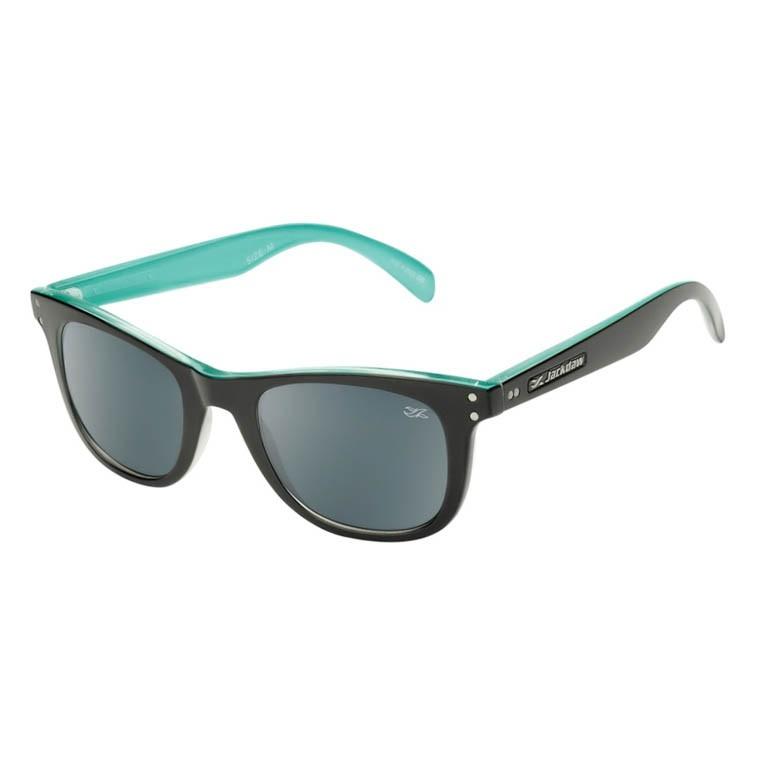 Óculos de Sol Jackdaw 42 Preto Brilho e Azul Piscina Brilho
