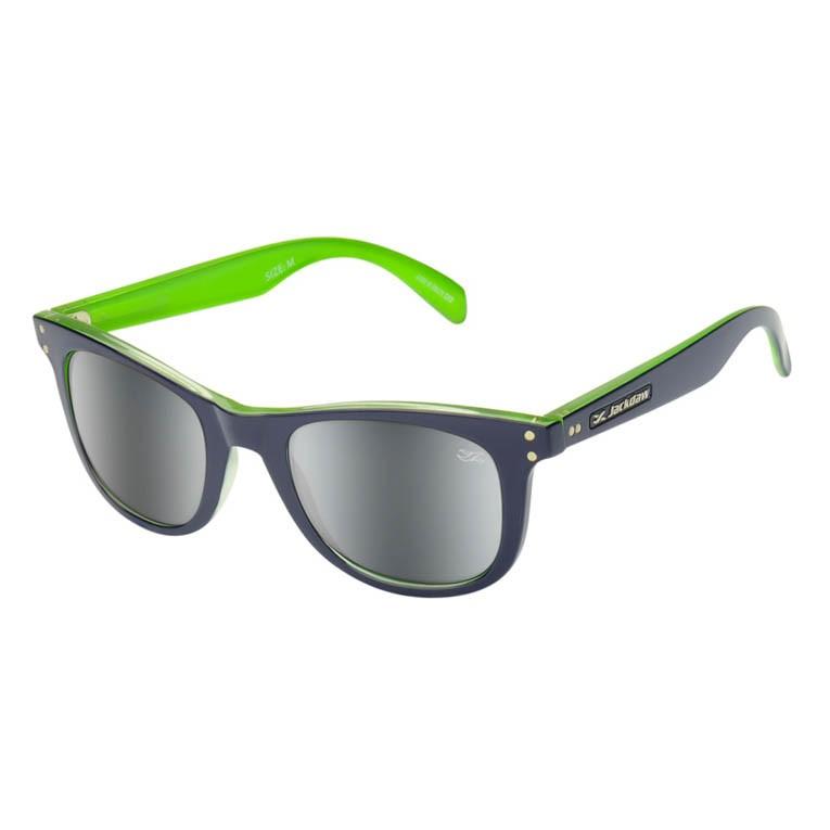 Óculos de Sol Jackdaw 45 Azul Marinho com Verde Brilho