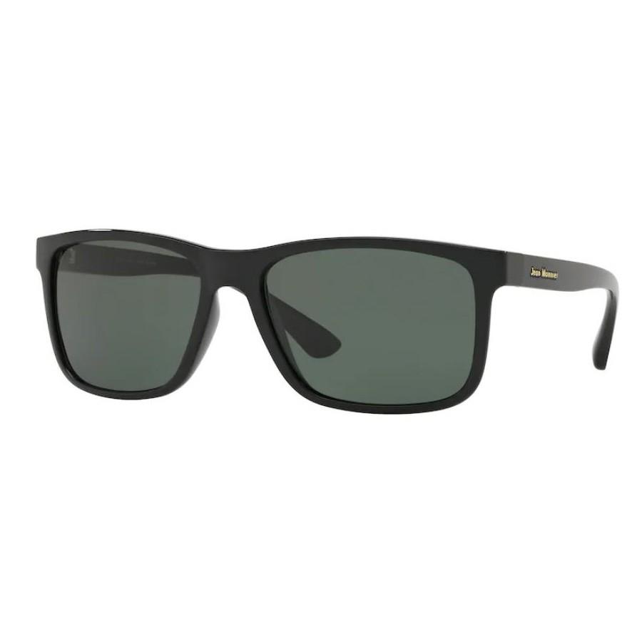 Óculos de Sol Jean Monnier J84129 Preto Brilho Grande