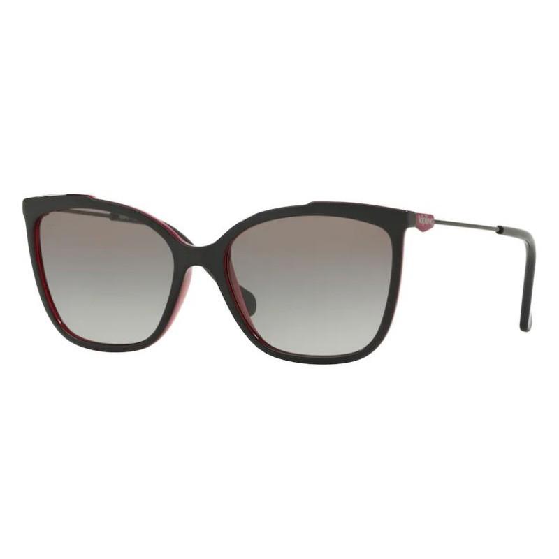 Óculos de Sol Kipling KP4056 Preto Brilho com Rosa Tamanho 55
