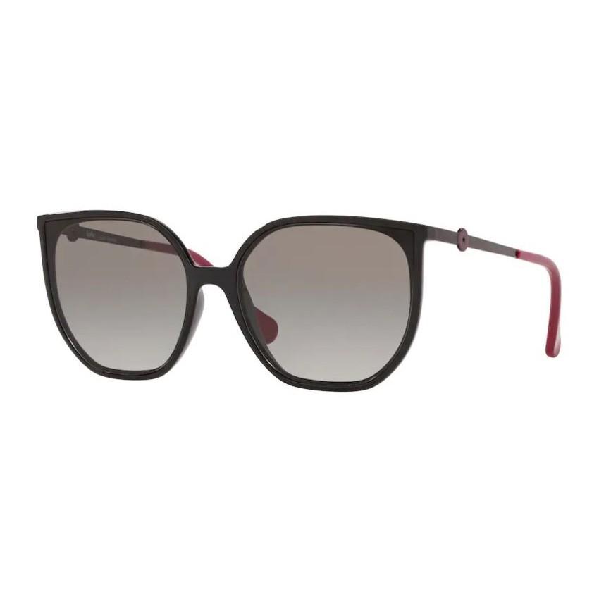 Óculos de Sol Kipling KP4061 Preto Brilho com Rosa Quadrado