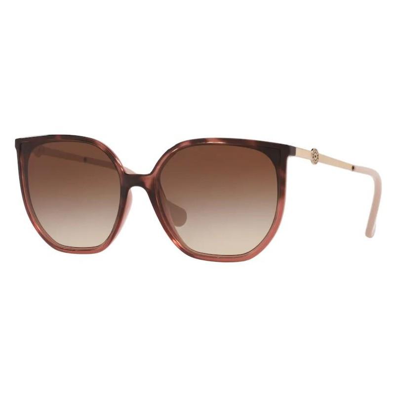 Óculos de Sol Kipling Quadrado KP4061 Marrom Havana Degradê
