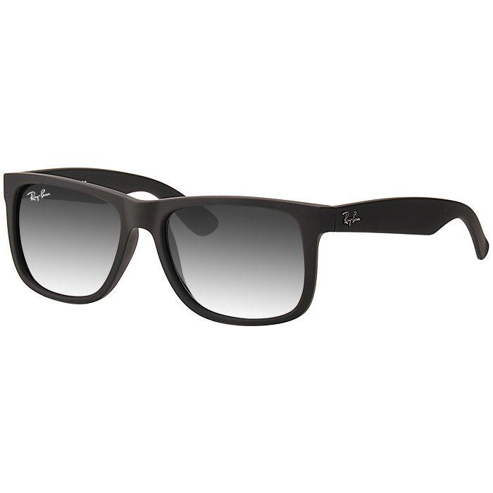 Óculos de Sol Masculino Ray Ban Justin RB4165 Acetato Preto Fosco