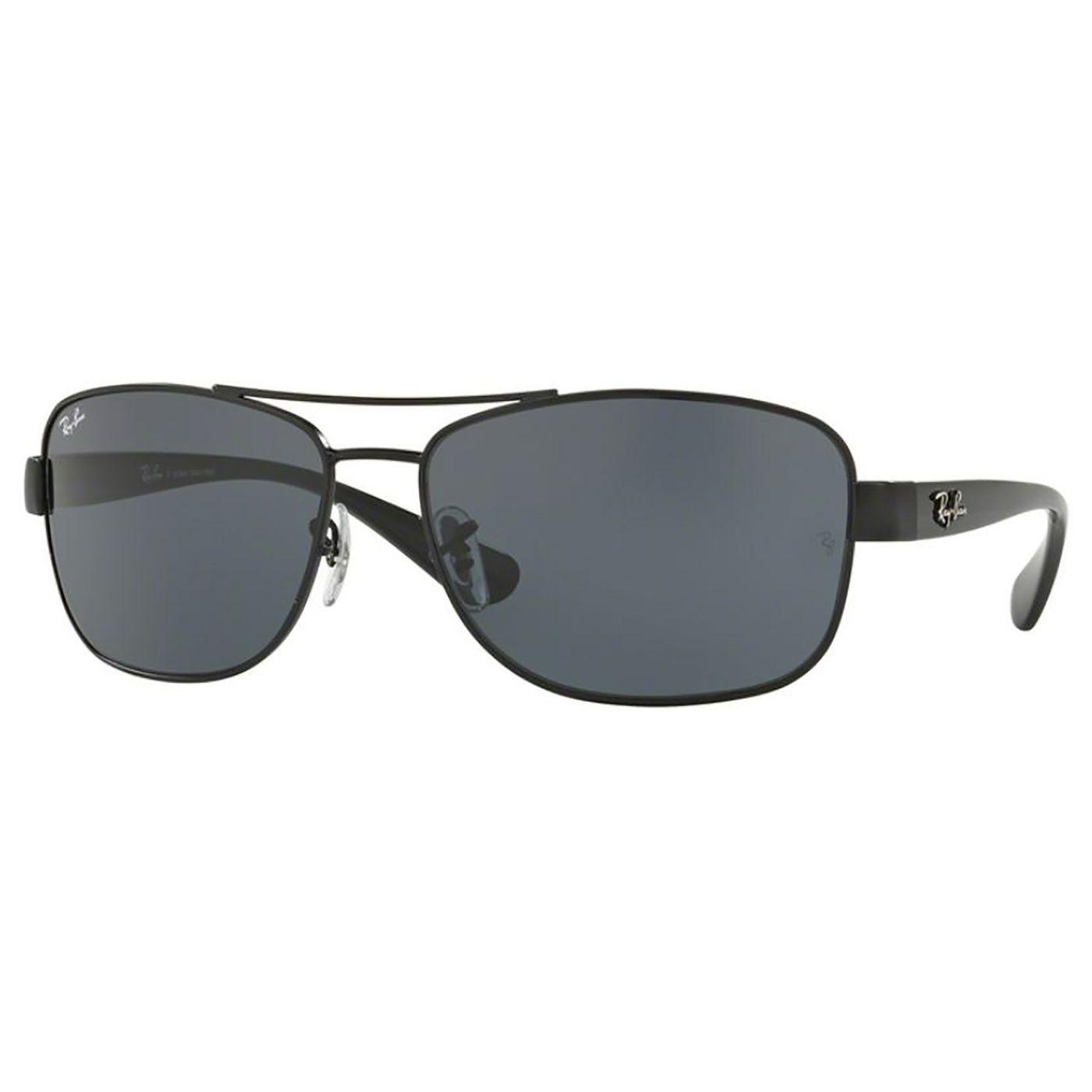 Óculos de Sol Masculino Ray Ban RB3518L Metal Preto Brilho Grande