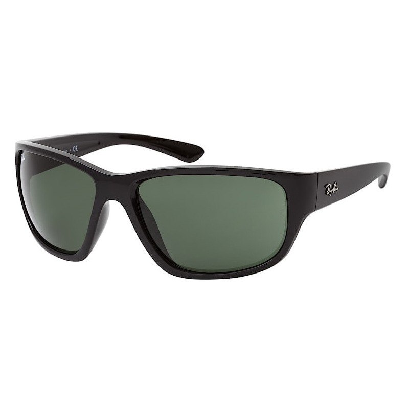 Óculos de Sol Masculino Ray Ban RB4300 Grande Preto Brilho