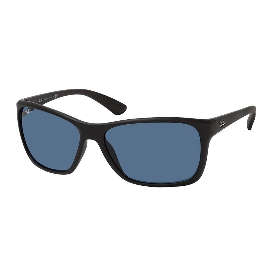 Óculos de Sol Masculino Ray Ban RB4331L Preto Fosco e Azul