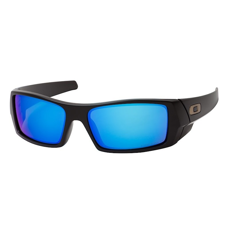 Óculos de Sol Oakley Gascan OO9014 Polarizado Preto Fosco Azul Safira