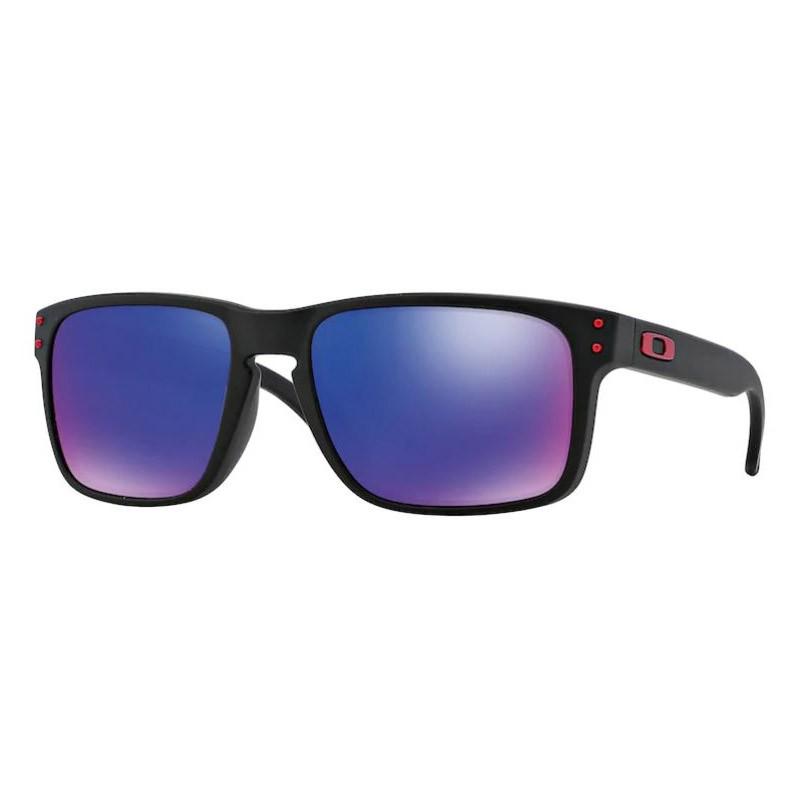 Óculos de Sol Oakley Holbrook Preto Fosco Vermelho Iridium