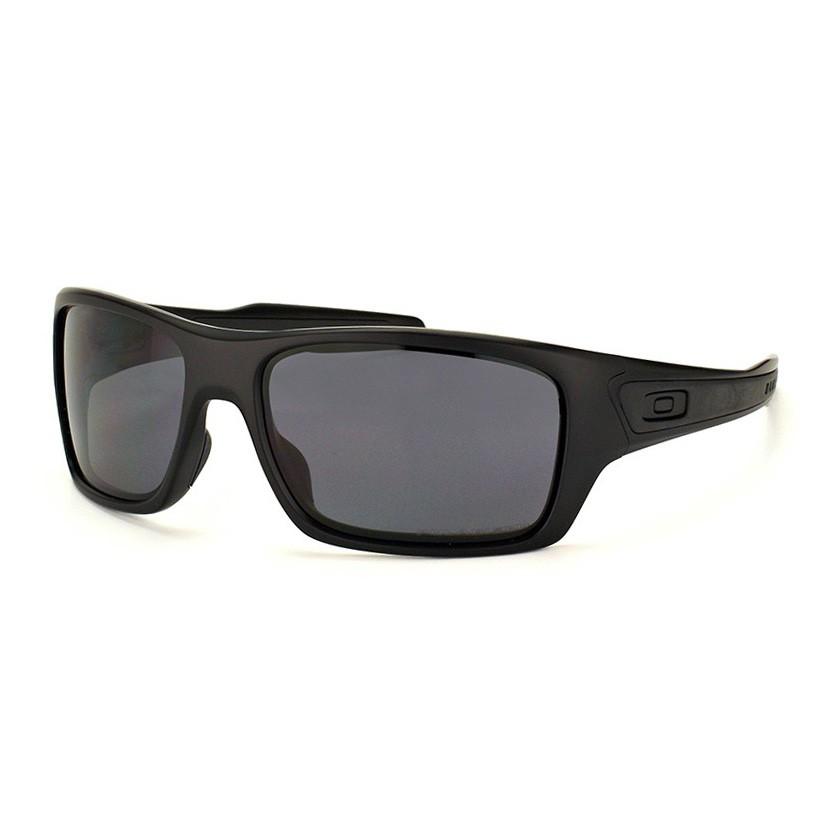Óculos de Sol Oakley Polarizado Turbine OO9263 Preto Fosco Grande