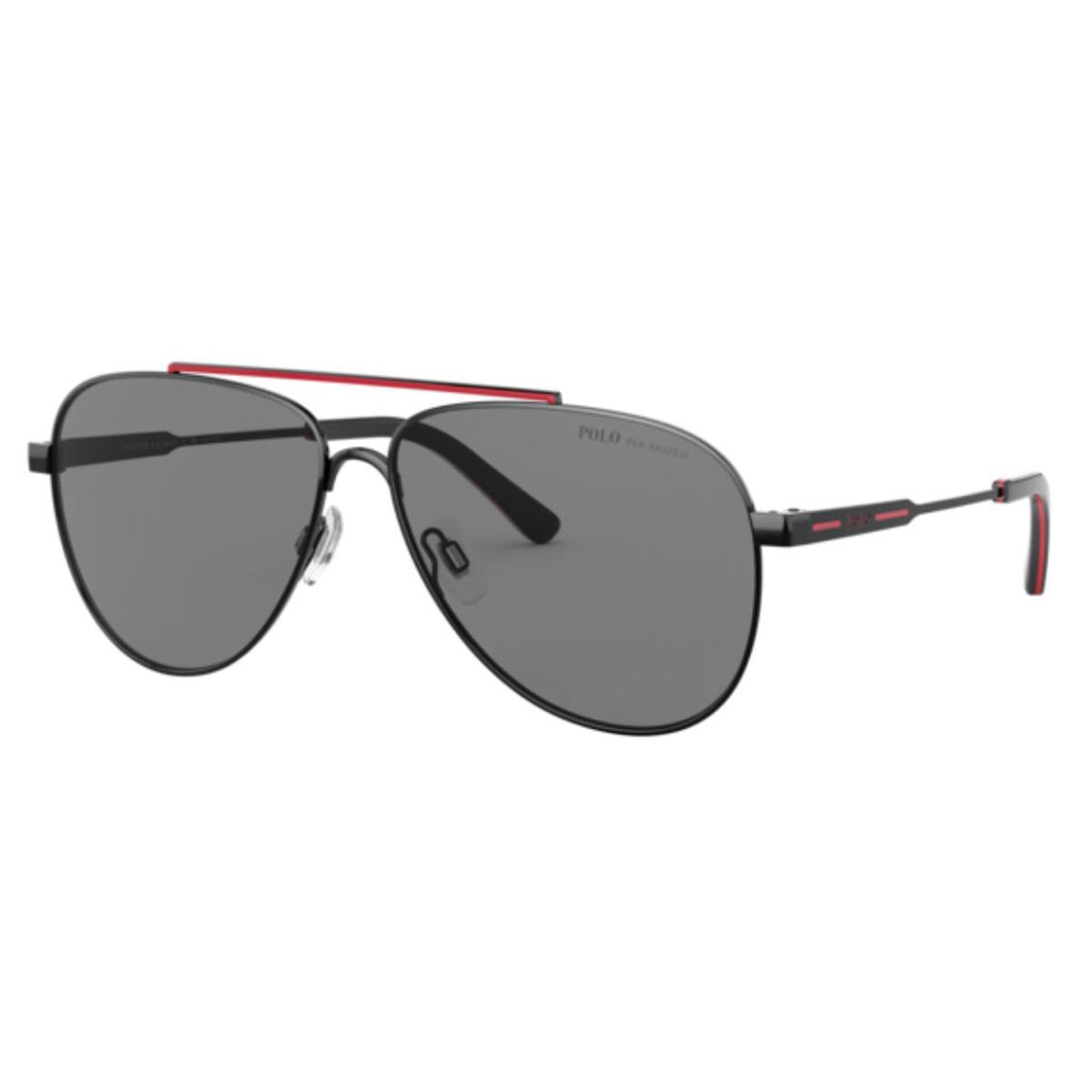 Óculos de Sol Polarizado Polo PH3126 Piloto Preto com Vermelho