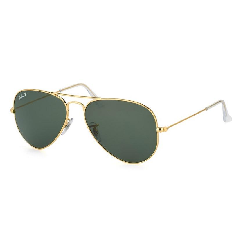 Óculos de Sol Polarizado Ray Ban Aviador Grande RB3025L Dourado