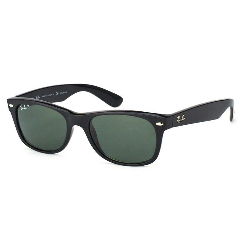 Óculos de Sol Polarizado Ray Ban New Wayfarer RB2132LL Preto Grande