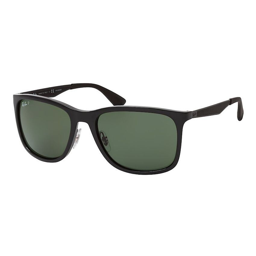 Óculos de Sol Polarizado Ray Ban RB4313 Preto Brilho Quadrado