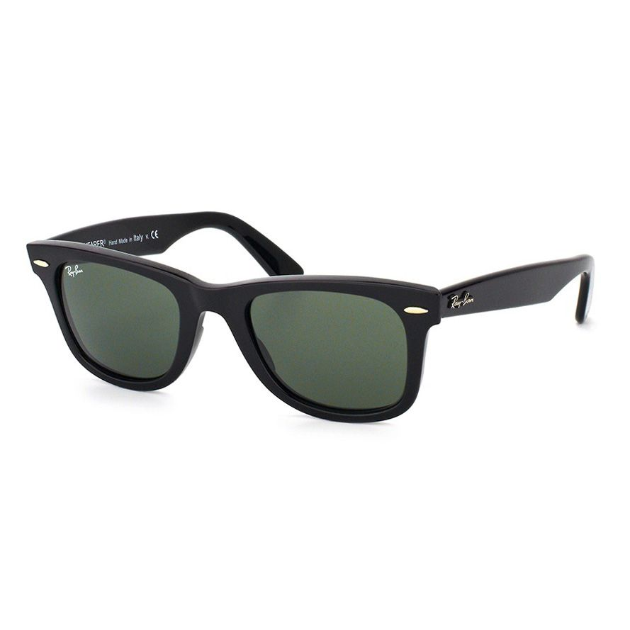Óculos de Sol Ray Ban Acetato RB2140 Wayfarer Preto Brilho