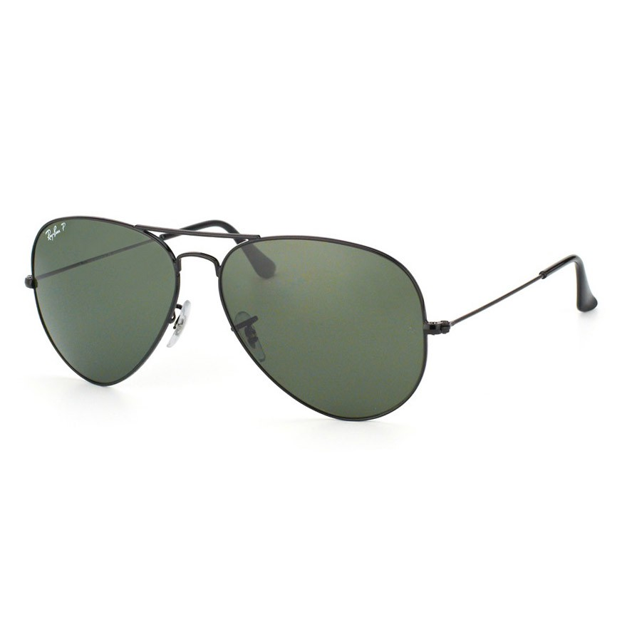 Óculos de Sol Ray Ban Aviador Grande RB3025L Preto Brilho Polarizado