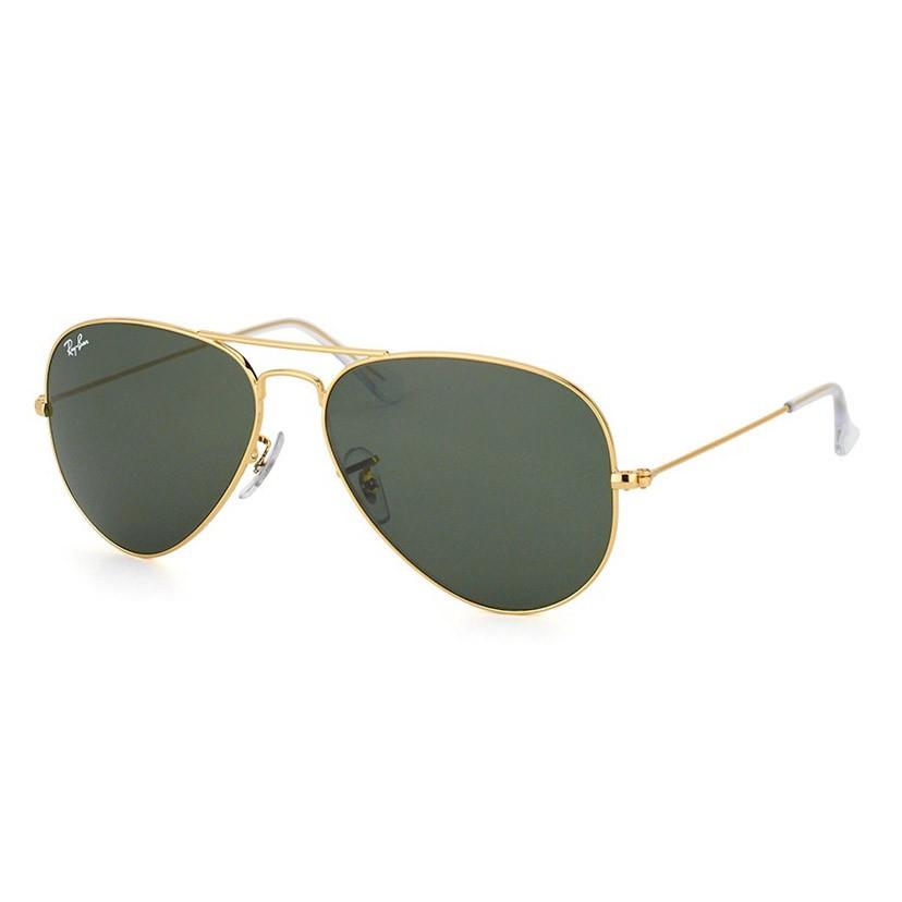 Óculos de Sol Ray Ban Aviador RB3025L Dourado Tamanho 58