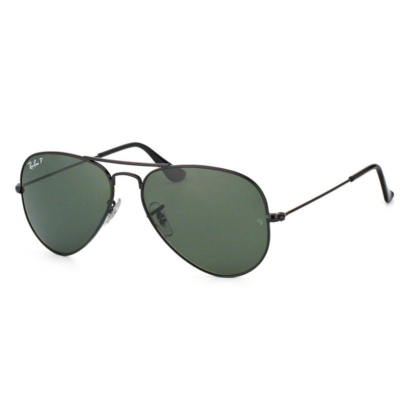 Óculos de Sol Ray Ban Aviador RB3025 Preto Polarizado Pequeno