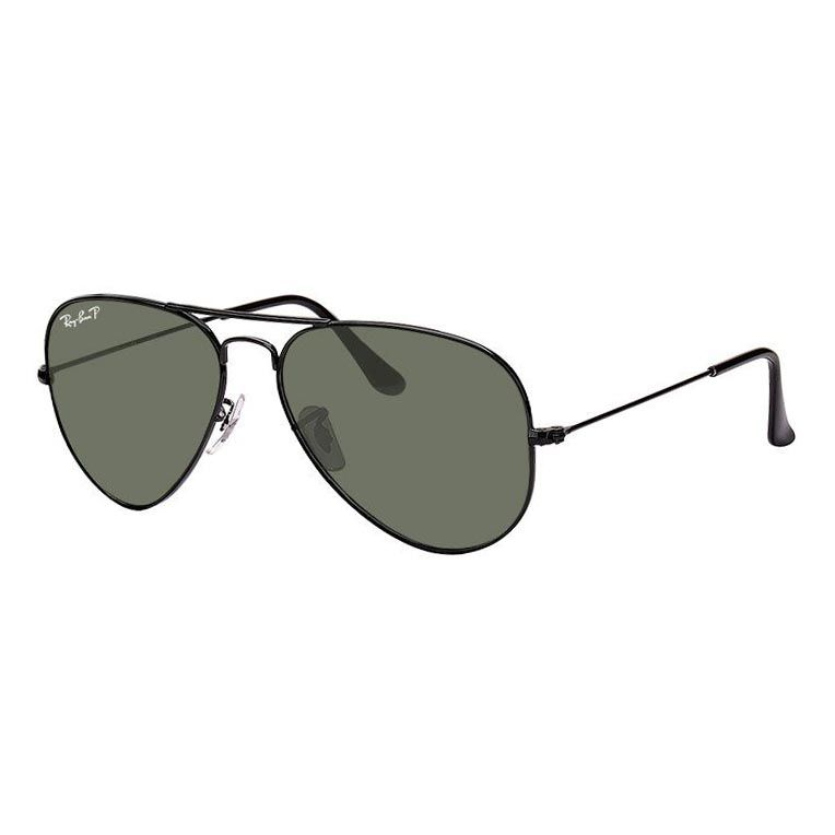 Óculos de Sol Ray Ban Aviador RB3025L Aviador Preto Polarizado