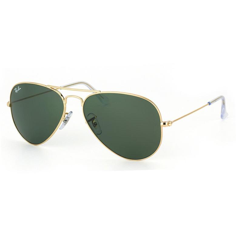 Óculos de Sol Ray Ban Aviador RB3025L Dourado Tamanho 55
