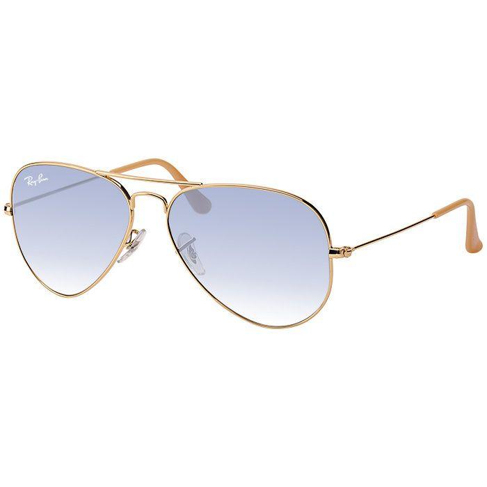 Óculos de Sol Ray Ban Aviador RB3025L Metal Dourado Azul Degradê