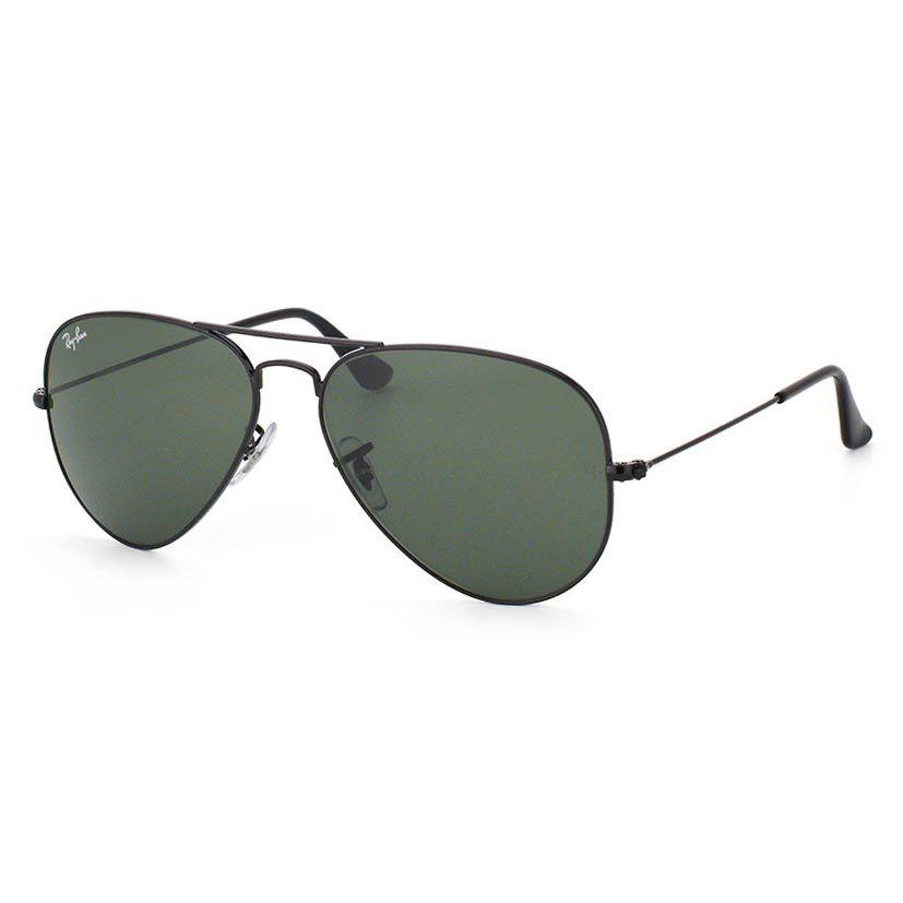 Óculos de Sol Ray Ban Aviator RB3025L Metal Preto Brilho